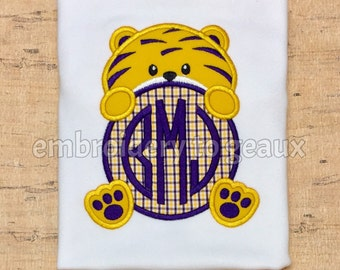 Boys Football Shirt, Monogrammed LSU Shirt, Boys Tiger T-Shirt, Football Tiger Shirt, Toddler Boys Football Shirt, Boys Football T-Shirt