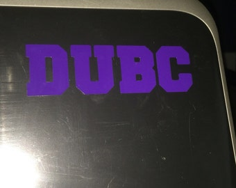 """West Chester University """"DUBC"""" Decal"""