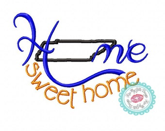 Tennessee Home Sweet Home Machine Embroidery Applique Design