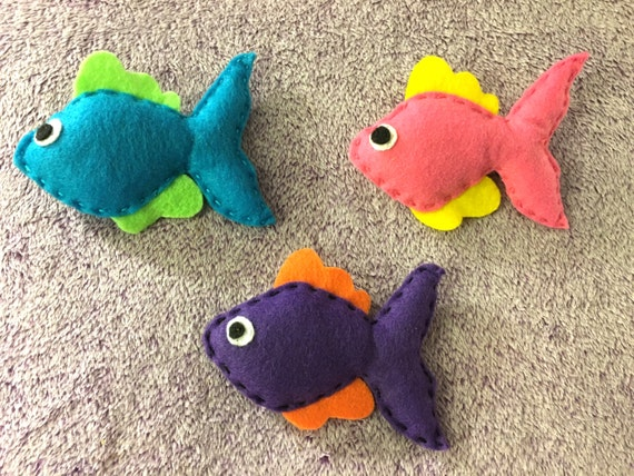 Items similar to cat toys felt fish catnip toys fish cat for Fish cat toy