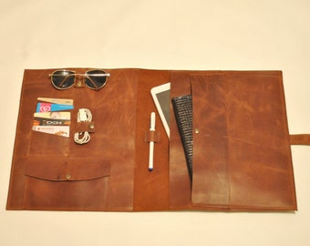 Ipad pro case Leather Moleskine cover  Leather travel organizer Ipad pro leather bag iPad pro portfolio Handmade leather Ipad pro case