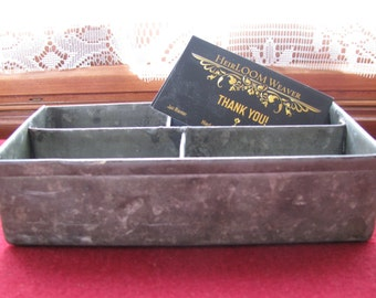 Industrial Tin Divided Holder Vintage