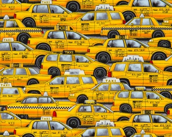 Timeless Treasures OOP Fabric - New York City Taxicabs - fun-c2155-yellow – One Yard