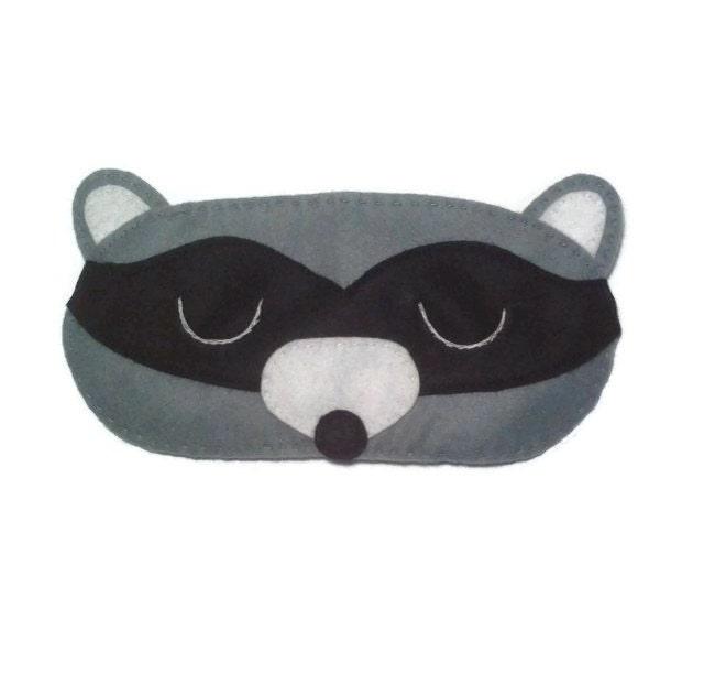 Racoon eye mask racoon sleep mask animal sleep mask felt - Patron masque de nuit ...