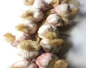 Ceramic Garlic on Sisal Rope