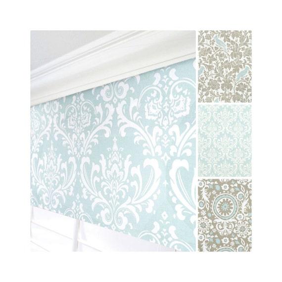 light blue window valance taupe valance powder blue window. Black Bedroom Furniture Sets. Home Design Ideas