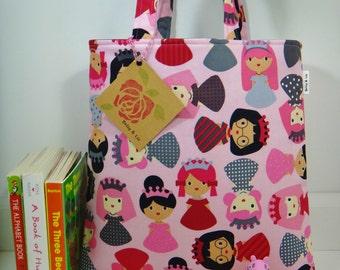 Princess Tote Bag, Mini Tote Bag, Girls Bag, Toddler Tote Bag, Girls Tote Bag, Princess Purse