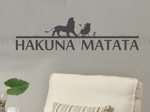 Hakuna Matata Silhouette Wall Decal