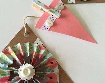 Pretty Pink Poppy Garland Banner