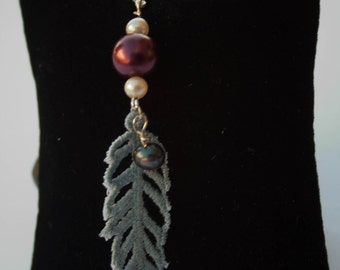 Lace Feather Charm