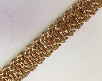 Gold and Salmon Flat Braid