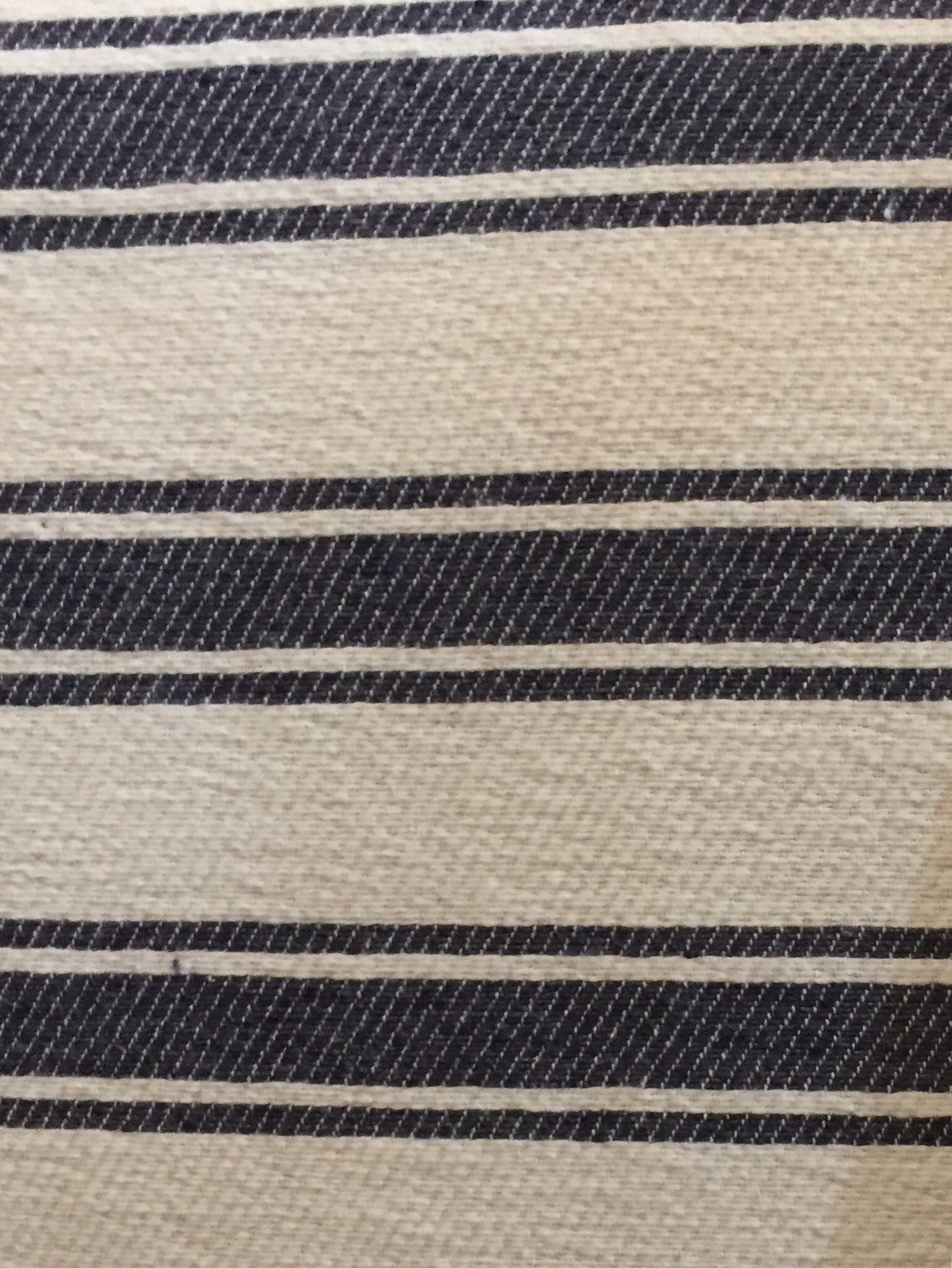 navy nautical stripe blue upholstery fabric by the yard. Black Bedroom Furniture Sets. Home Design Ideas
