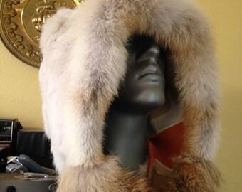 Fur Hood w/ Rabbit Coyote and Retro Lining