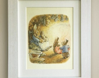 "BEATRIX POTTER Print, New Baby/Birth, Nursery Picture Gift, *UNFRAMED* Lovely Birth or Christening Gift, 10""x8"", Peter Rabbit"