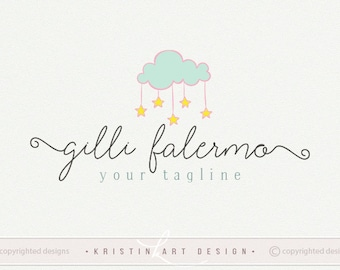 Stars logo, Baby photography logo, Kids fashion logo design, Kids shop logo watermark 426