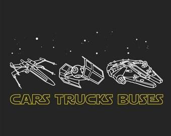 Phish Cars Trucks Buses Star Wars Lot Shirt | Men's