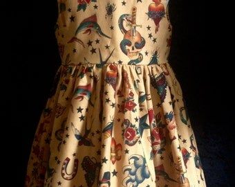 Tattoo print dress