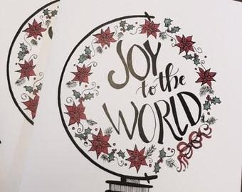 Joy to the World - Christmas Notecards/Tag Cards - Correspondence