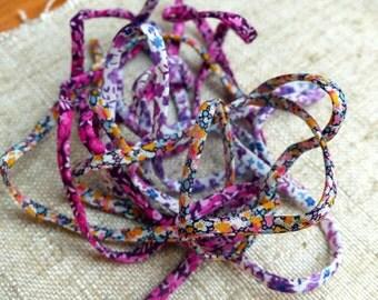 Lot 3 cords Liberty flower fabric