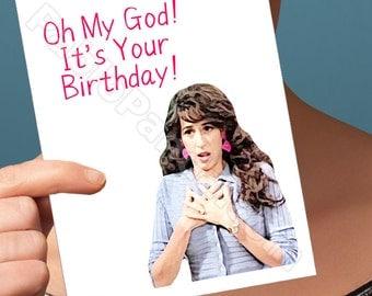 Friends Tv Show   Birthday Card   Boyfriend Card Janice Birthday Funny Boyfriend Card Youre My Lobster Happy Birthday Card For Him Funny Her