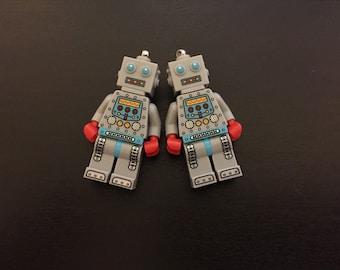 Lego Robot earrings