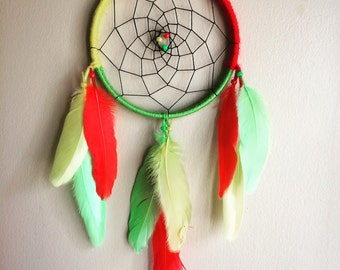 Rasta Dreamcatcher Red Yellow Green Jamaica Rastafarian