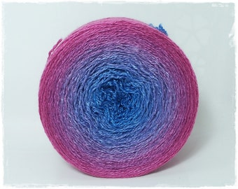 Harmony* Merino silk Gradient Yarn hand dyed - Lace weight