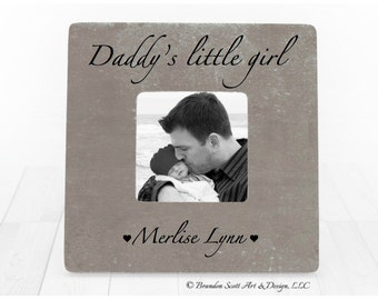 Fathers Day Daddy's Little Girl Frame, Gift for Dad, Daddy's Girl Frame, Father Of Girls Daughter Daughters, Father Daughter Frame
