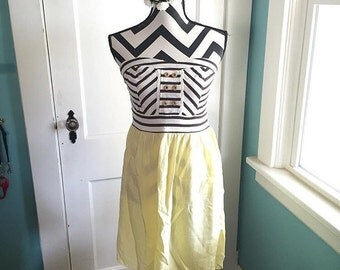 Vintage Striped and Yellow Dress