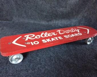 Rare Vintage Roller Derby #10'' Skate Board