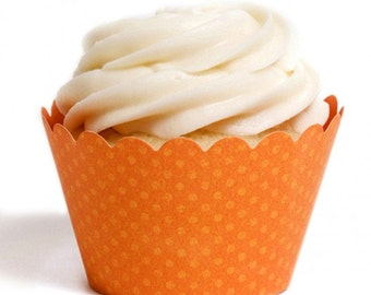 Orange Cupcake Wrapper (Set of 12)