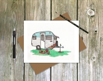 Serro Scotty Sportsman Camper / Travel Trailer - Blank note card