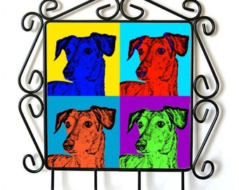 Sloughi- clothes hanger with an image of a dog. Collection. Andy Warhol Style