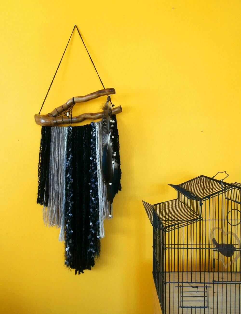 Boho wall decor dream catcher, yarn wall hanging, wall tapestry ...