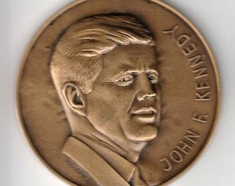 1963 JFK Bronze Medal - Huguenin