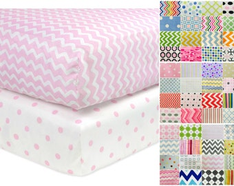 Baby Crib Fitted Sheet / Cotton Flannel Nursery Sheet / Nursery Bedding / Choose Your Fabric