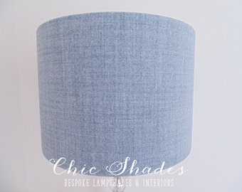 Pale Blue Soft Faux Wool Fabric Lampshade