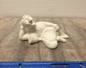 Ceramic Bisque Lying Down Witch Ready to Paint
