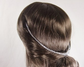 Swarovski crystal hair drape.Use as a browband or to drape on a low bun,halo braid or loose plait.Boho chic wedding hairstyles.