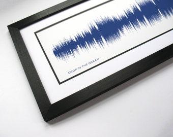 Drop in the Ocean - Soundwave Art Print