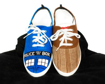 Customized Doctor Who Shoes