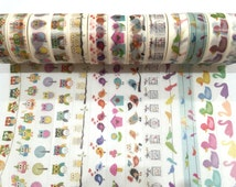 Japanese Washi Tape, Rainbow Bird Owl Duck Animals 14 Designs to Choose From 1 Roll x 10 METRES