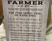 You Know You're A Farmer Wood Sign - Christmas Gift, FFA, Farming, Father's Day, Farm Family, Mother's Day - Custom Photo