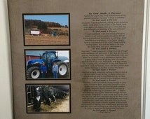 So God Made A Farmer Custom Photo Wood Sign or Canvas Collage  - Christmas, Father's Day, Mother's Day, Father's Day, FFA, Paul Harvey Poem