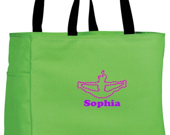 Personalized Tote Bag Embroidered Tote Bag Custom Tote Bag - Sports - Cheerleading - B0750