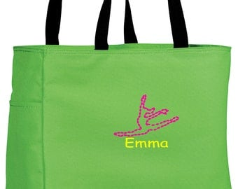 Personalized Tote Bag Embroidered Tote Bag Custom Tote Bag - Sports - Dance - B0750