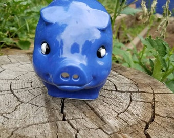 New Vintage Style Piggy Bank - Periwinkle  - No hole in the bottom