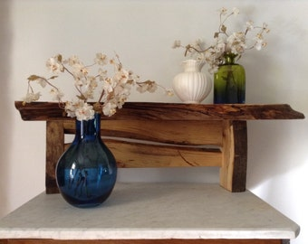 Handcrafted Rustic Shelf Made From Pennsylvania Spalted Elm With An Oil Finish