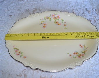 15 Inch Virginia Rose Oval Serving Platter  by Homer Laughlin