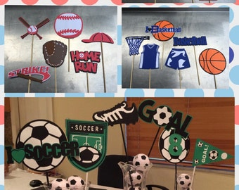 Sports theme centerpieces/ Football Centerpieces/ Soccer centerpieces / Basketball Centerpieces/ Baseball centerpieces